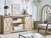 Sideboard heller Holzfarbton 2 Schiebetüren