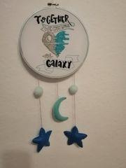Wanddeko für das Kinderzimmer Stickrahmen