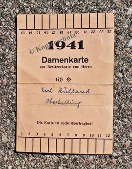 Sonstige Sammlungen - Fahrscheine Eintrittskarte Ticket antik