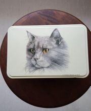 Katzenmotiv-Dose