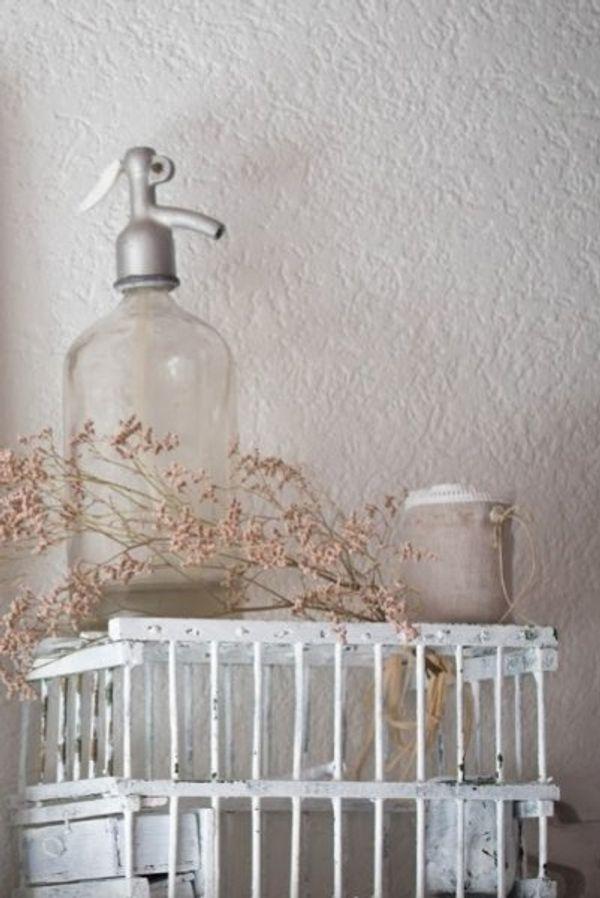 Sodaflasche Dekoration in Wohnung Garten