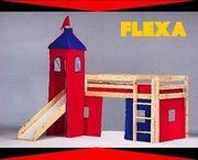 Flexa Bett halbhoch Turm Rutsche
