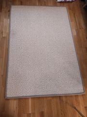 Teppich beige flach gewebt