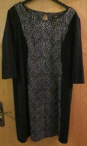 Gr 46 Kleid schwarz grau