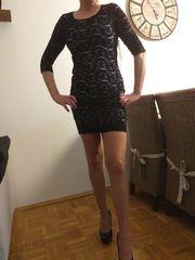 Mini Spitzekleid 36 38 Partykleid