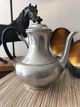 Teekanne aus Zinn - Vintage -
