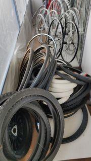 Fahrradreifen und Fahrradfelgen