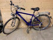Blaues KTM Trekkingrad 28 50er