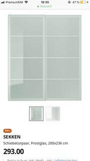 PAX Schiebetüren Frostglas 200x236