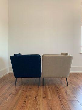 Bild 4 - Sessel in blau und beige - Friedrichshafen Gzg