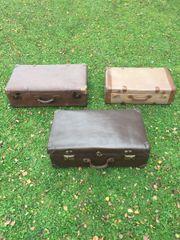 Koffer Antik Vulkanfiber 3 Stück