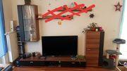 Anbauwand TV Board Vitrine Schrank