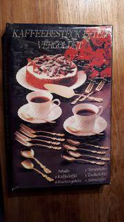 2 komplette Kaffeebestecke vergoldet je