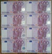 Echte 500 - Euro Scheine der