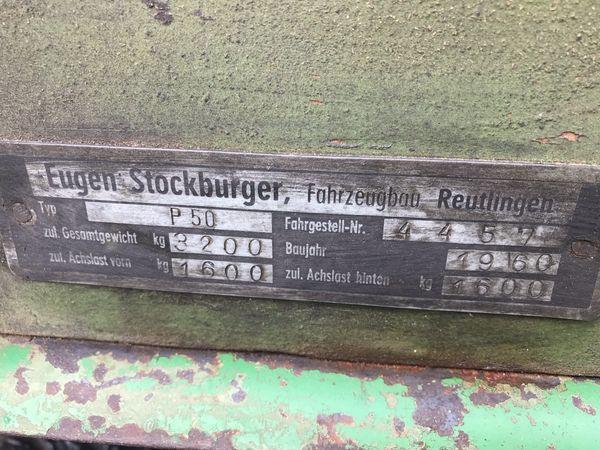Stockburger Ackerwagen 2 Achser Auflaufbremse