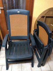 6 Gartenstühle plus Auflagen
