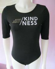 Halb-Arm Body Kindness Schwarz S