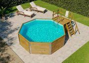 großer Holz-Pool mit Garantie abzugeben