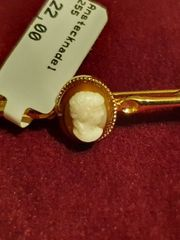 Silber 925 Anstecknadel Gemme Goldplatiert
