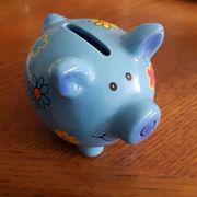 Kleines Sparschwein mit Blumenmuster Preis