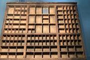 Setzkasten vintage original Holz