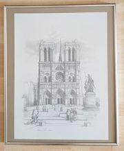 Gerahmtes Bild der Kathedrale Notre-Dame