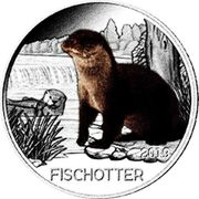 3 EUR Tier Taler Fischotter
