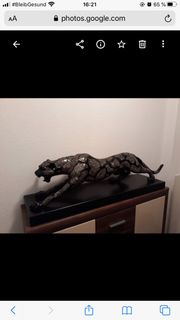 Leoparden Statue