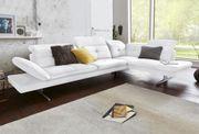 -50 Ecksofa Weiß exxpo Sofa