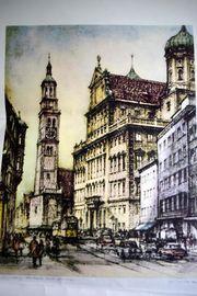 Kunstdruck mit dem Motiv Rathaus