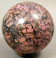 Rhodonit - große Kugel Mineralien Heilstein