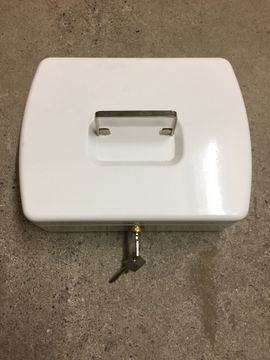 Büromaterial - Geldkassette weiss abschliessbar 2 Schlüssel