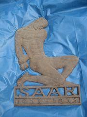 Metallbild Saar 1918-1935 Kunst Hängebild