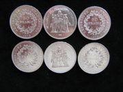 6 x 50 Francs Frankreich