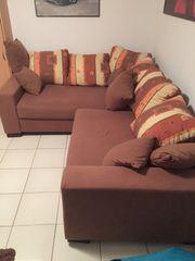 Braune Couch Sofa zu verkaufen
