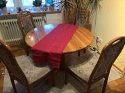 Holztisch ausziehbar 6 Stühle