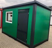 Bürocontainer Gartenhaus Baustellencontainer - 4x2 20m