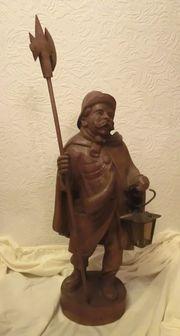 Holzschnitzerei - Nachtwächter mit Laterne