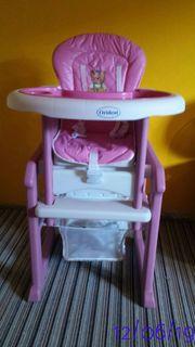 Kinder Hochstuhl pink Kinderhochsitz Babyhochstuhl