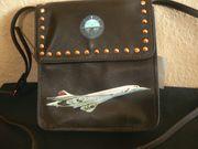Leder Tasche Neu Concorde Flugzeug