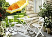 Balkon Set weiss Gartentisch 2