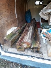 Brennholz Eichenbalken günstig abzugeben inkl