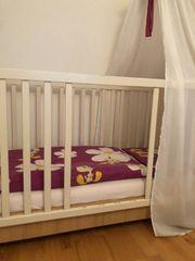 Komplettset Kinderbett Babybett Gitterbett