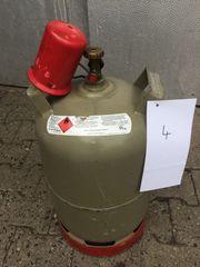 Graue Gasflasche - Campingflasche 11kg - Anzeige