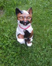 Lustige Gartendeko - Katze Lina