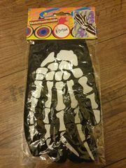 Handschuhe Halloween Skelett NEU OVP