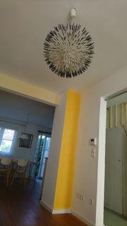 Design Lampe weiss schwarz