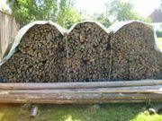 Brennholz Kiefer Fichte gespalten zu