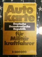 Alte DDR Militär-Straßenkarte 1 alte