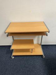 2 PC-Tische in edlem Holz-Metall-Look